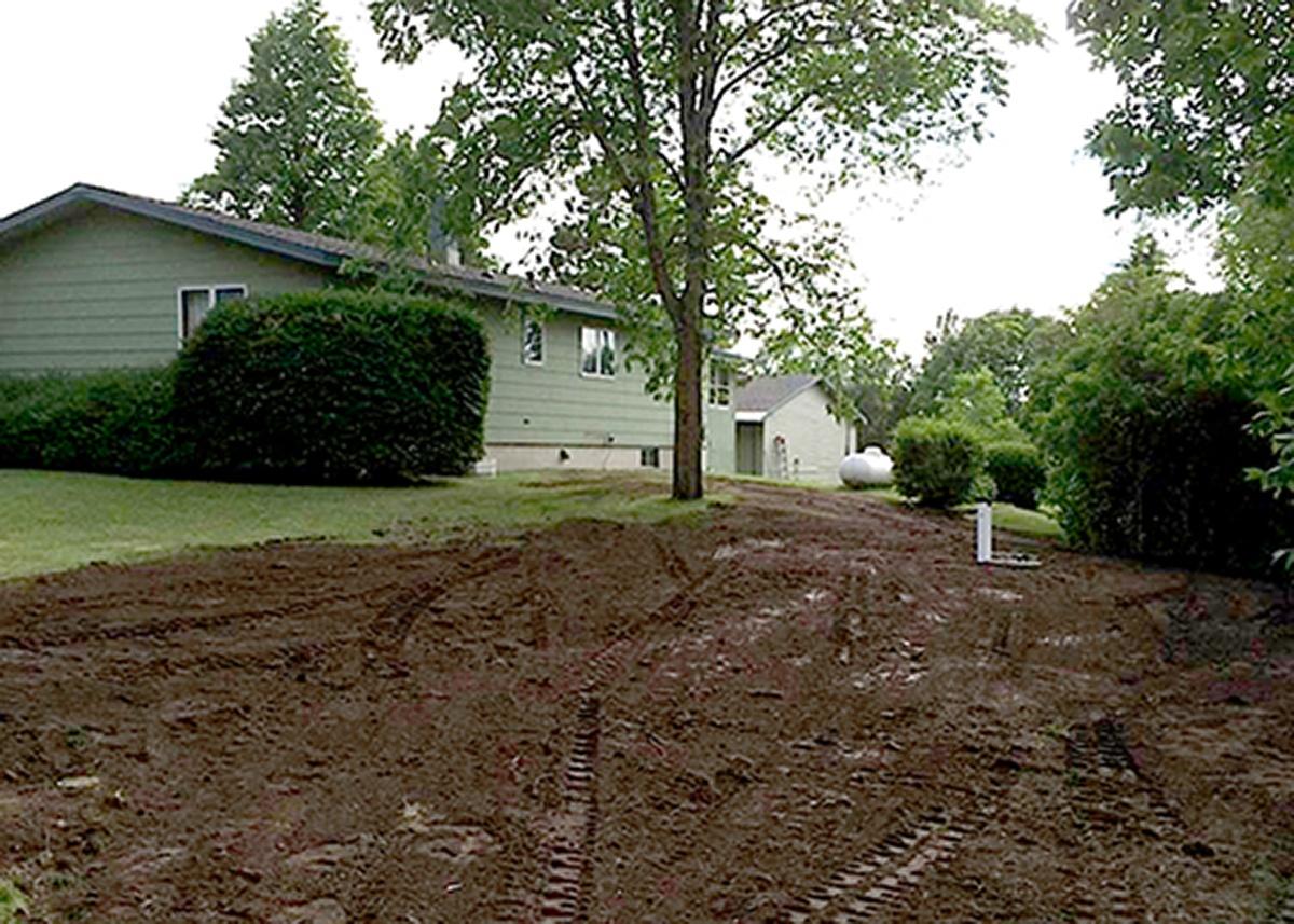 Barry Excavating backyard